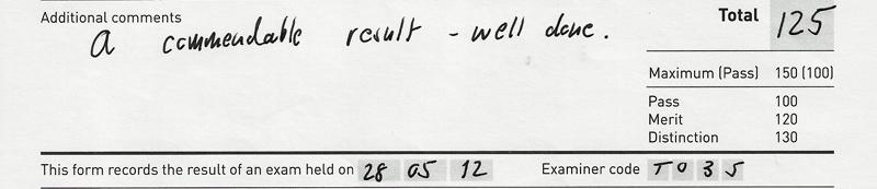 Grade 2, Merit, 125/150