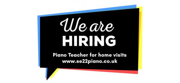 Piano Teacher Vacancy Job London