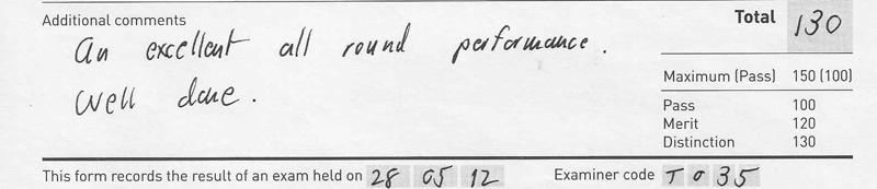 Grade 2 Distinction, 130/150