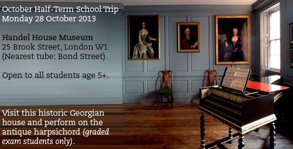 School trip to Handel House