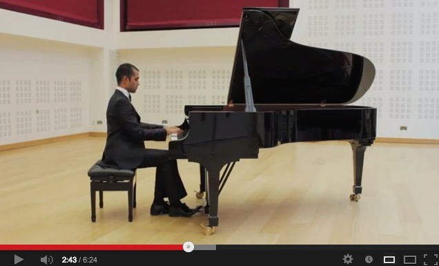Click here to watch Emmanuel performing 'James Bond Concert Etude'.