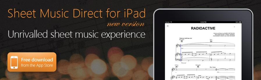 Click here to download the Sheet Music Direct app for iPad