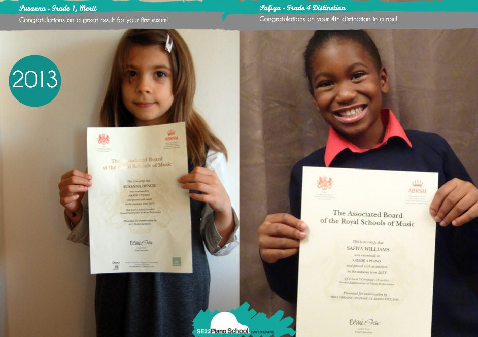 Click to view our recent ABRSM exam results and certificates