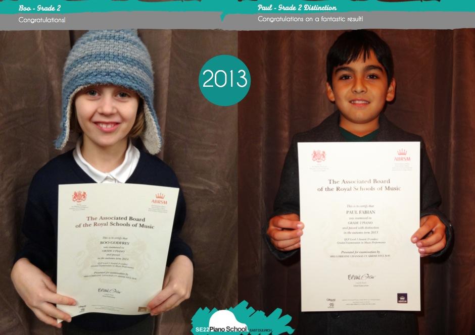 Grade 2 ABRSM Piano Certificates