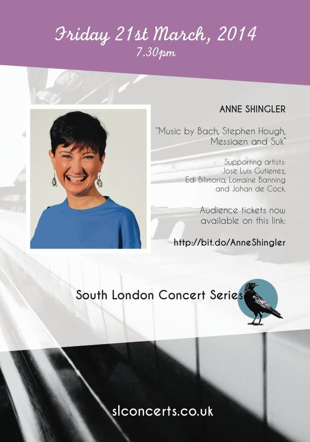 Anne Shingler, Pianist