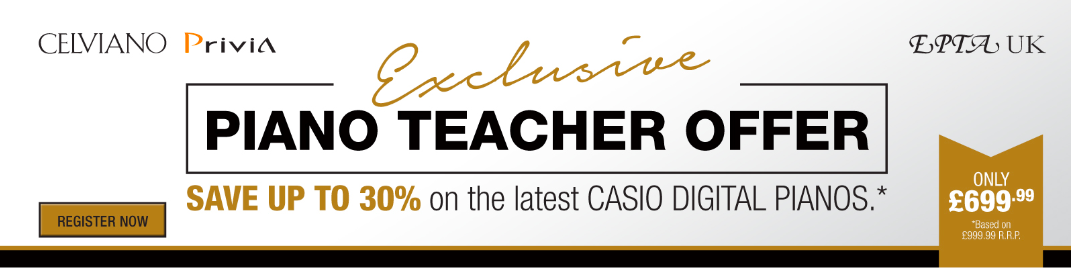 Casio 30% off for Piano Teachers
