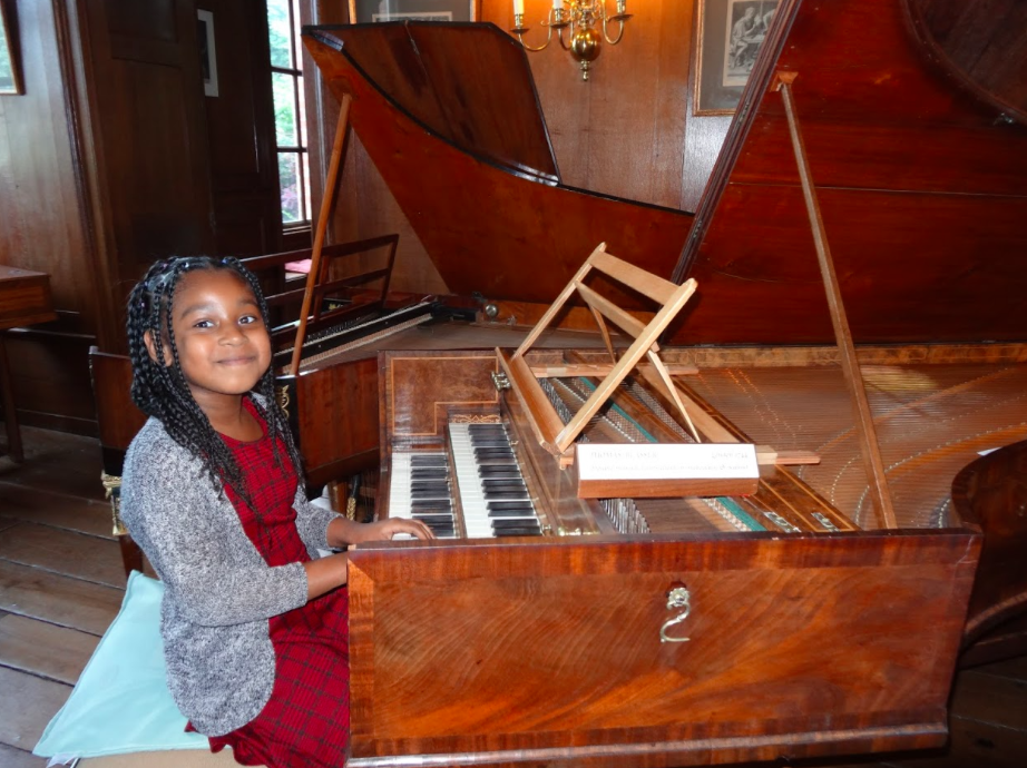 Alanna plays the Blasser harpsichord