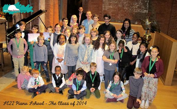 SE22 Piano School- The Class of 2014