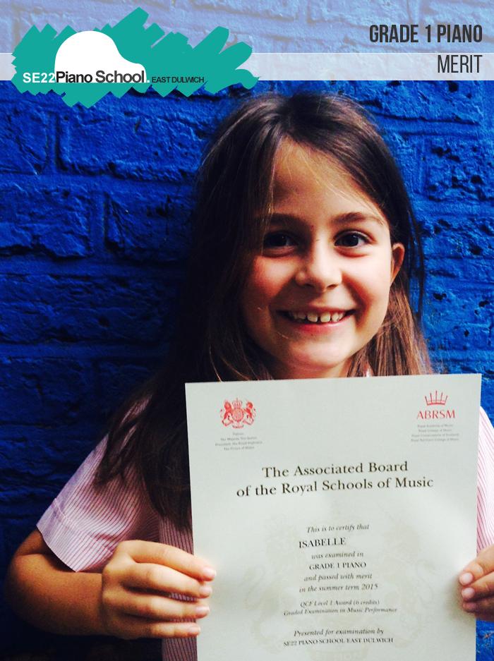 ABRSM Grade 1 Merit Summer 2015