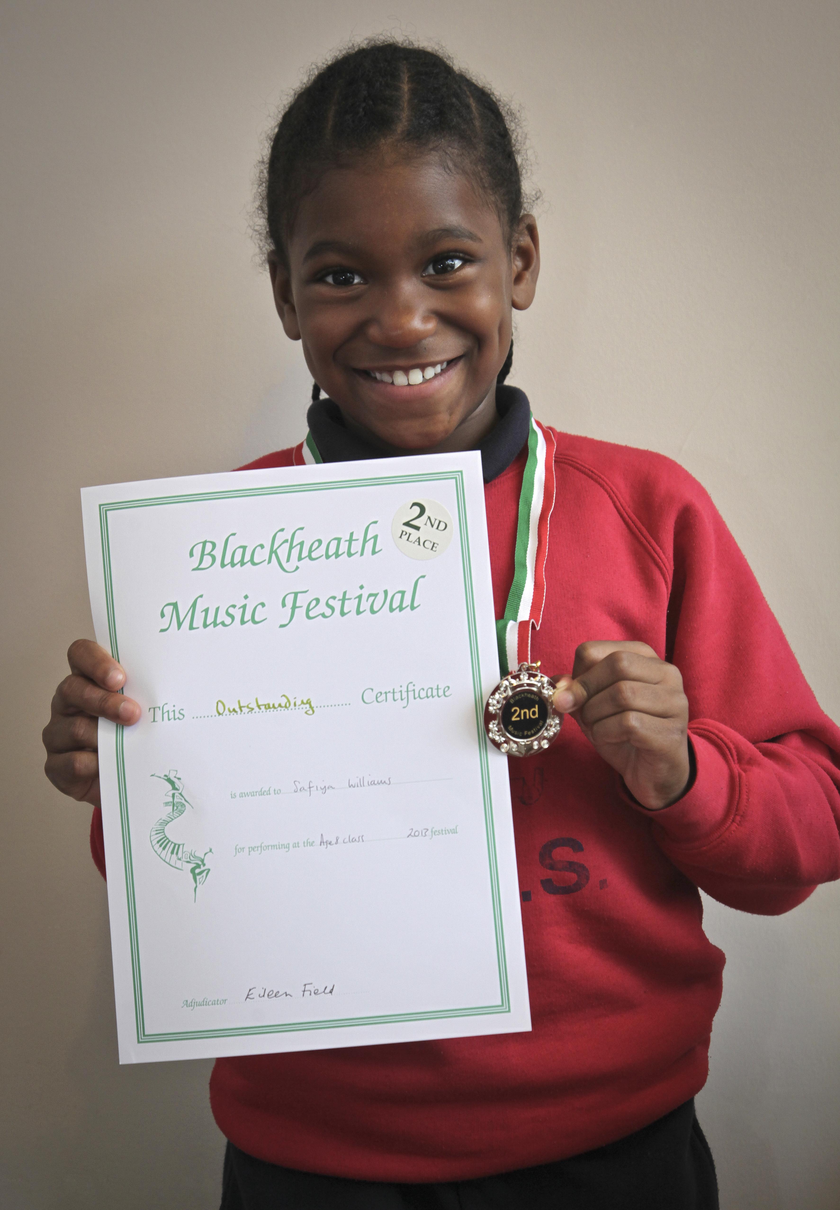 Croydon Festival, 1st place